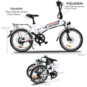 ANCHEER ELECTRIC COMMUTER BICYCLE