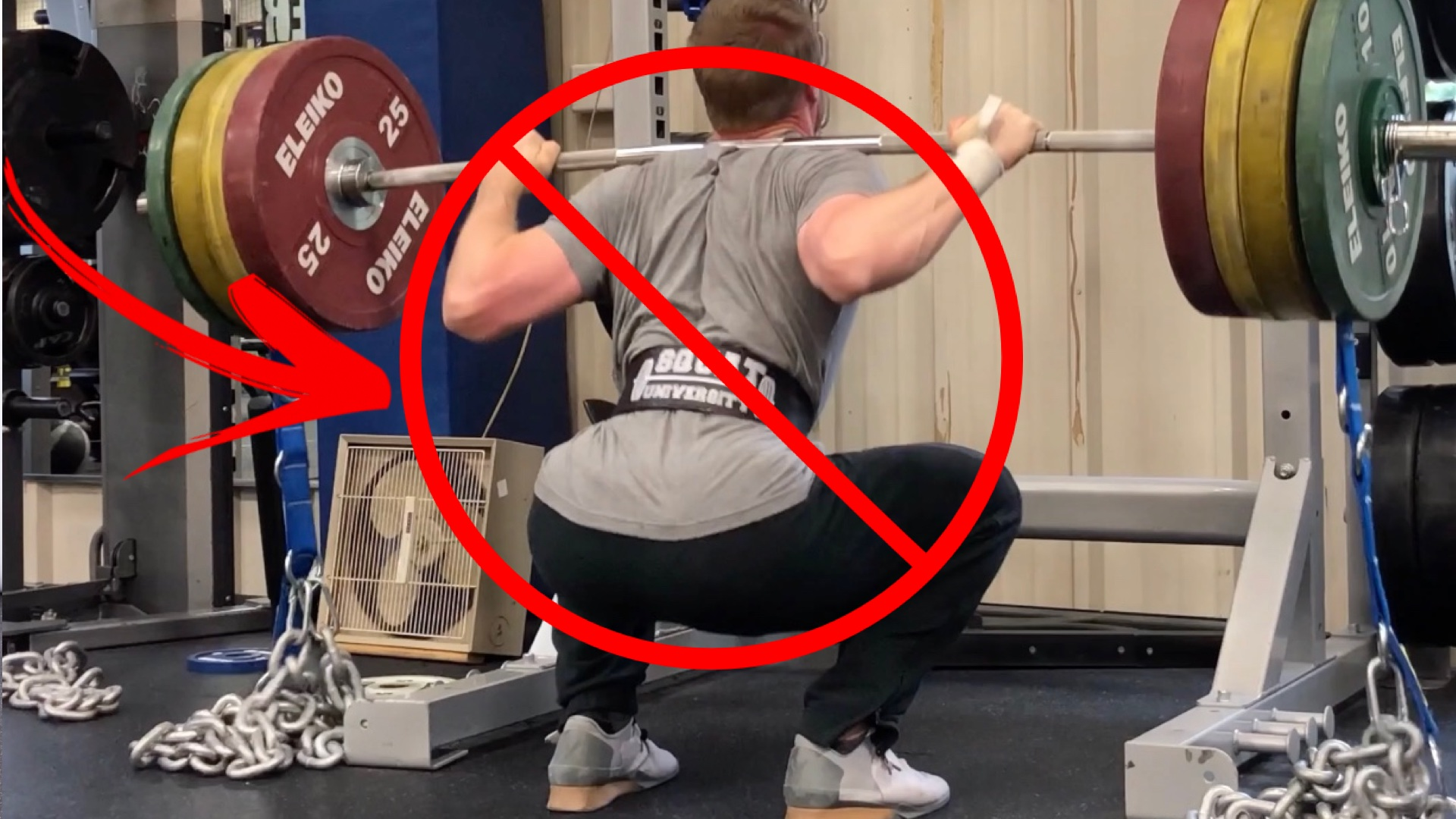 PREVENTION OF INJURIES AND WEAR when squatting